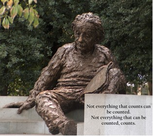 Statue and Quote